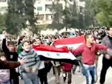 Rallies in al-Jamiliyeh and al-Suleimaniyeh in Aleppo Demanding Expulsion of Terrorists